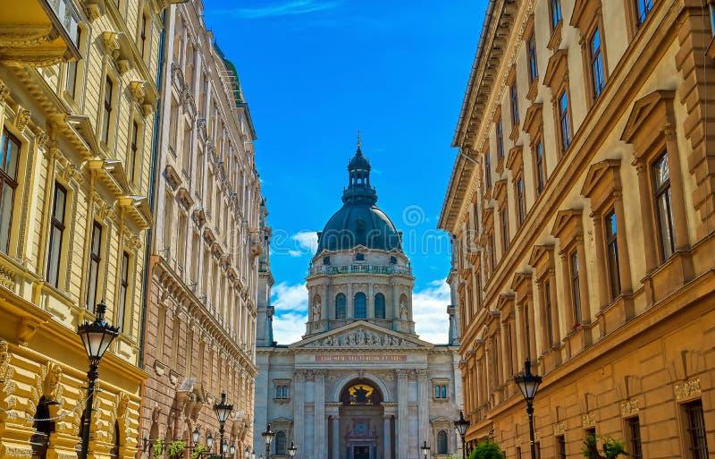 Bazylika św. Szczepana położona na Pest Side w Budapeszcie, Węgry obrazy royalty free