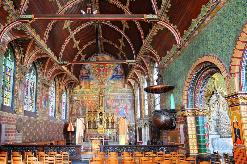 Bazylika Święta krew w Bruges, Flamandzki region Belgia zdjęcia royalty free