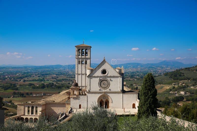 Bazylika świętego Francis bazylika Di San Francesco w Assisi fotografia stock