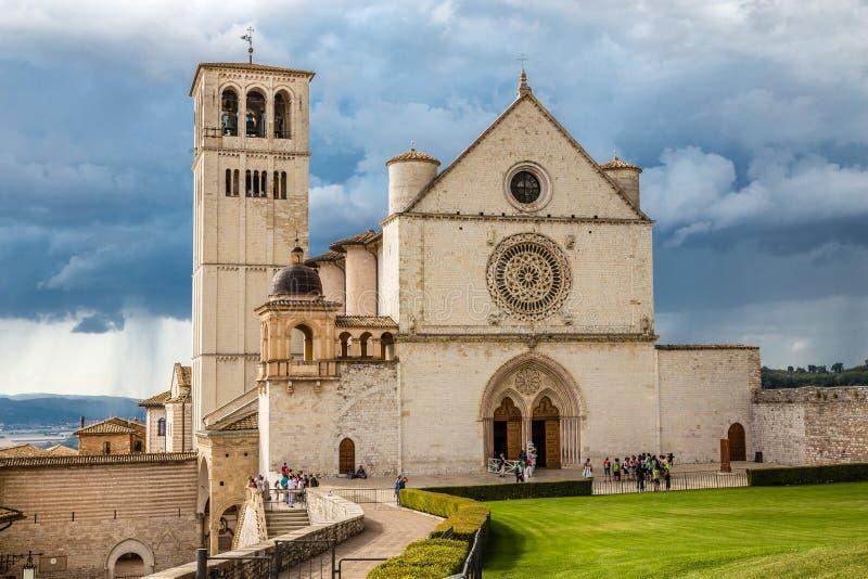 Bazylika święty Francis Assisi, Assisi -, Włochy zdjęcia royalty free
