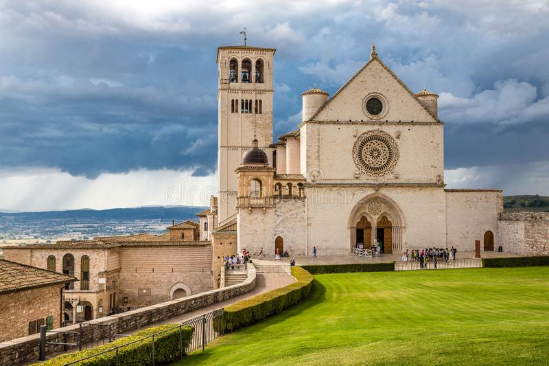 Bazylika święty Francis Assisi, Assisi -, Włochy obrazy royalty free