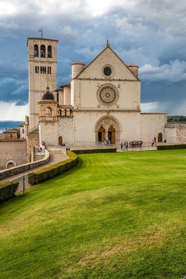 Bazylika święty Francis Assisi, Assisi -, Włochy zdjęcie royalty free
