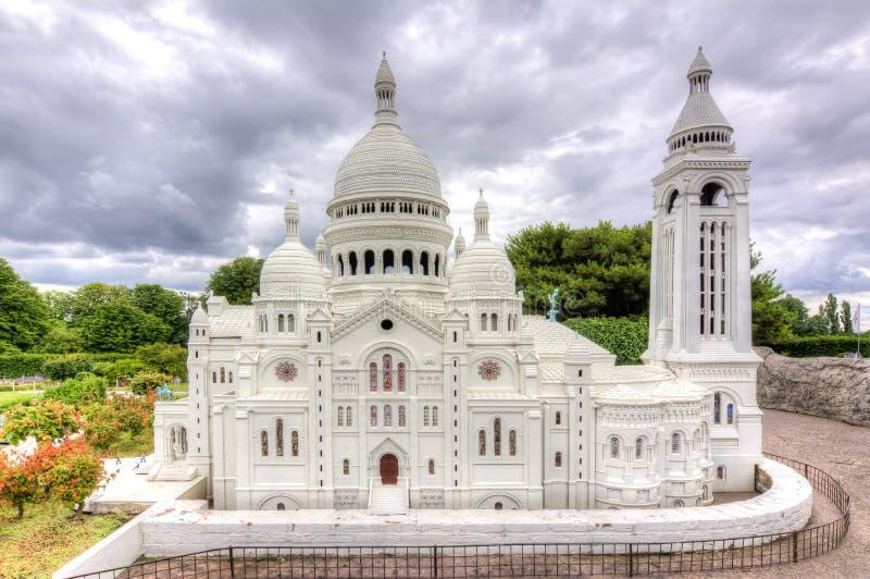 Bazylika Święty Kierowy Sacre-Coeur w mini Europa parku, Bruksela, Belgia obraz royalty free