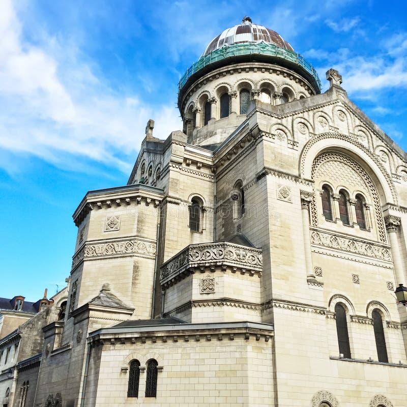 Bazylika święty Martin w wycieczkach turysycznych, Francja zdjęcie royalty free