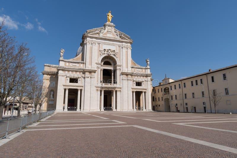 Bazylika święty Mary aniołowie Włochy, Assisi obrazy stock