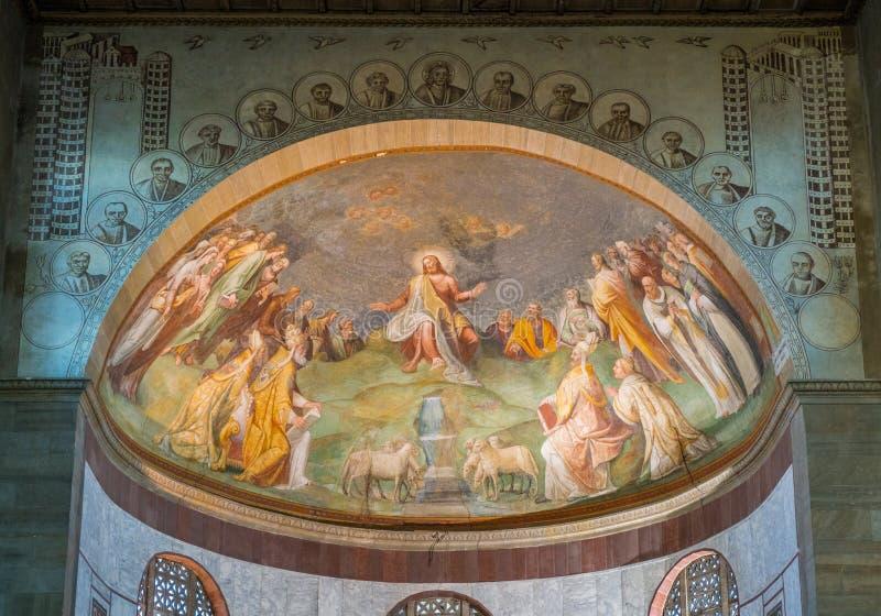 Bazylika święty Sabina, dziejowy kościół na Aventine wzgórzu w Rzym, Włochy fotografia stock