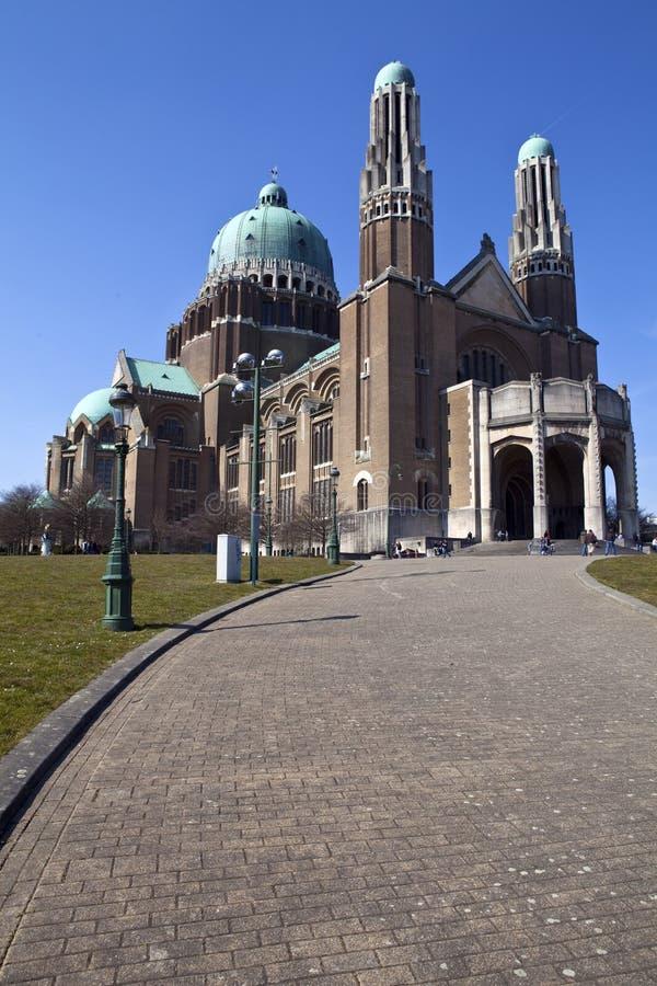 Bazylika Święty serce w Bruksela obrazy royalty free