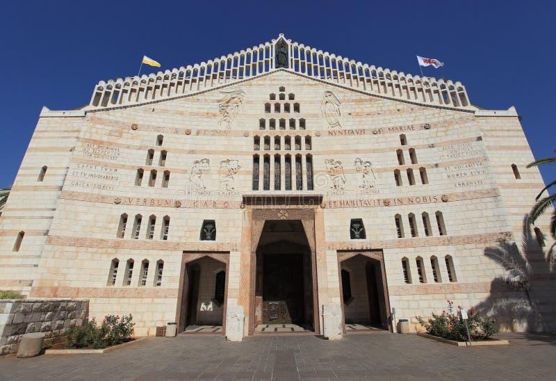 Bazylika Annunciation antepedium widok zdjęcie stock