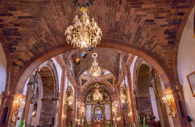 Bazylika Bożenarodzeniowy Parroquia Kościelny San Miguel De Allende Meksyk zdjęcia stock