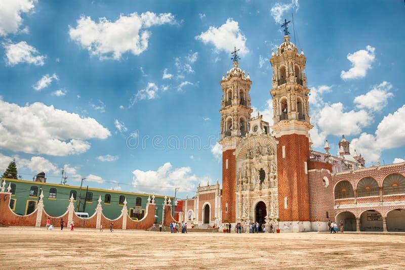 Bazylika De Ocotlan Tlaxcala Meksyk obrazy stock