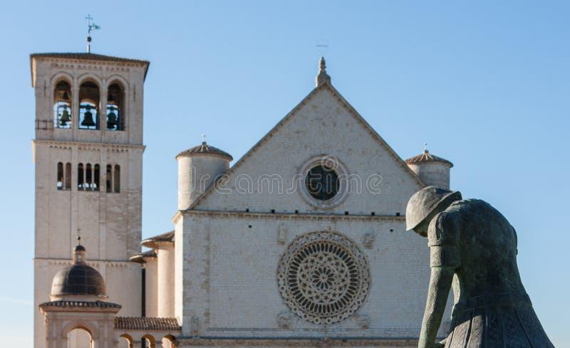 Bazylika Di San Francesco, Assisi, Umbria, Włochy (St Francis) fotografia royalty free