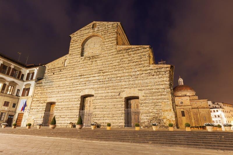 Bazylika Di San Lorenzo w Florenc (bazylika St Lawrance) zdjęcie royalty free