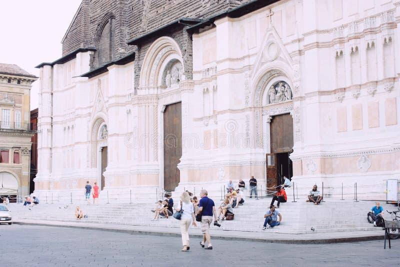 Bazylika Di San Petronio, Bologna obraz stock