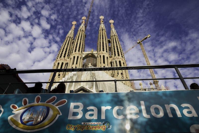 Bazylika ja Świątynny Expiatori de los angeles Sagrada Familia w Barcelona, Hiszpania, 2015 zdjęcie stock
