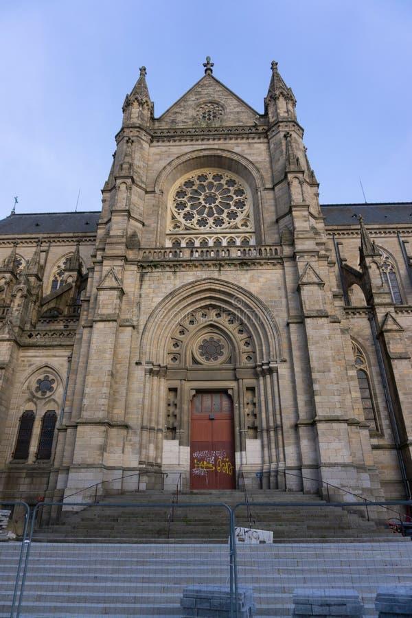 Bazylika Rennes, Francja, Notre Damae De Bonne Nowela wejście obraz royalty free