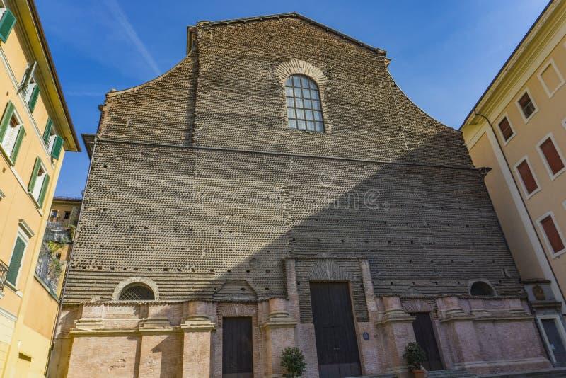 Bazylika San Petronio w Bologna, Włochy obrazy royalty free