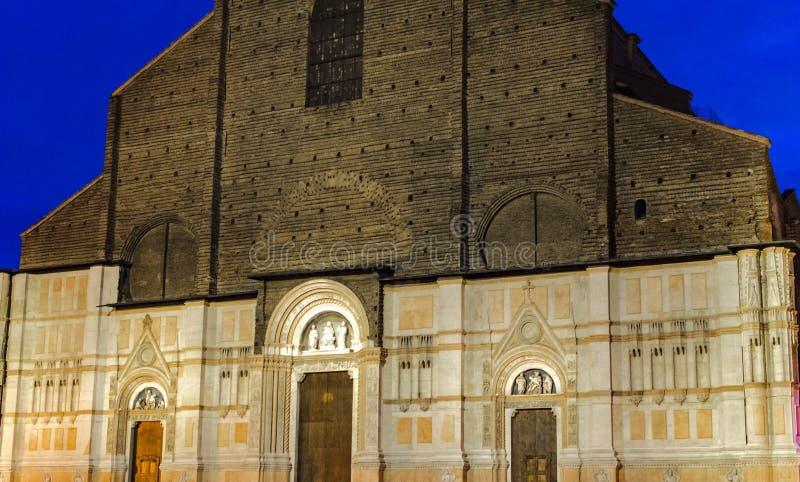 Bazylika San Petronio w Bologna, Włochy fotografia stock