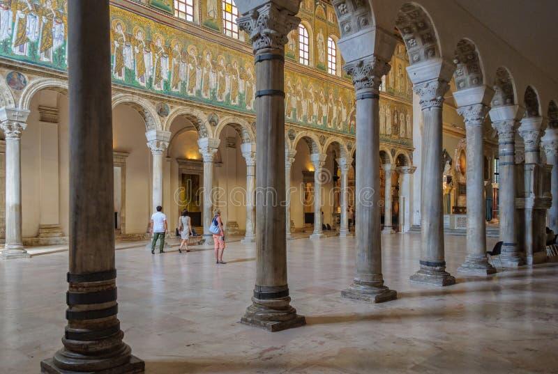 Bazylika Sant Apollinare Nuovo, Ravenna - zdjęcia royalty free