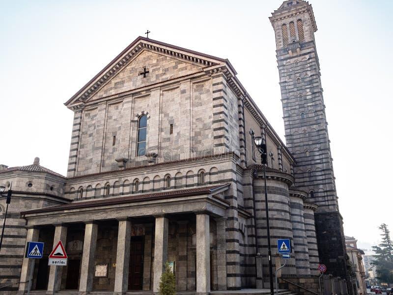 Bazylika Santuario Di Nostra Signora w Lecco fotografia stock