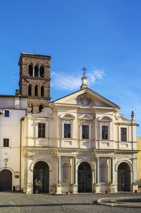 Bazylika St Bartholomew, Rzym obraz royalty free