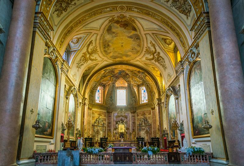 Bazylika St Mary i męczennicy aniołowie w Rzym, Włochy zdjęcia royalty free
