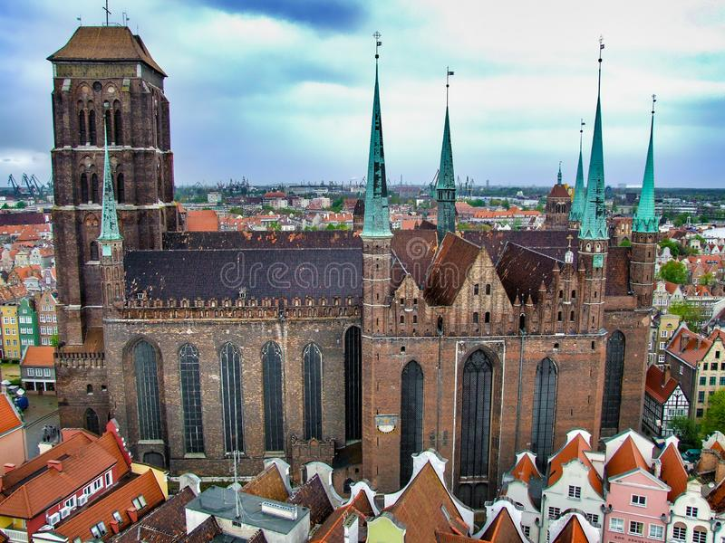 Bazylika wniebowzięcie Błogosławiony maryja dziewica w Gdańskim fotografia royalty free