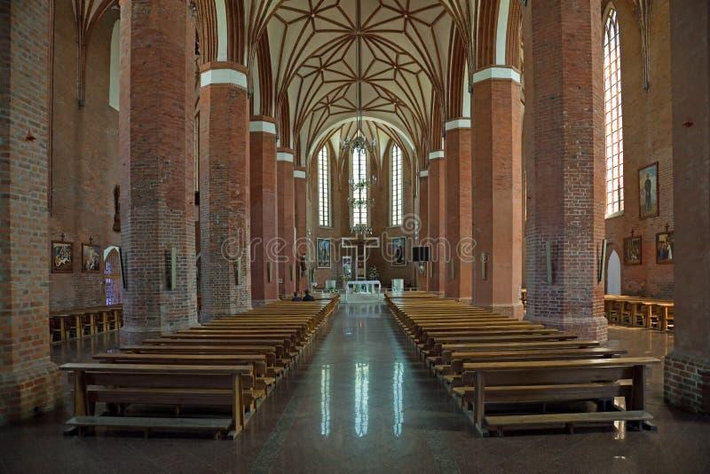 bazyliki braniewo Catherine Poland sts zdjęcie stock