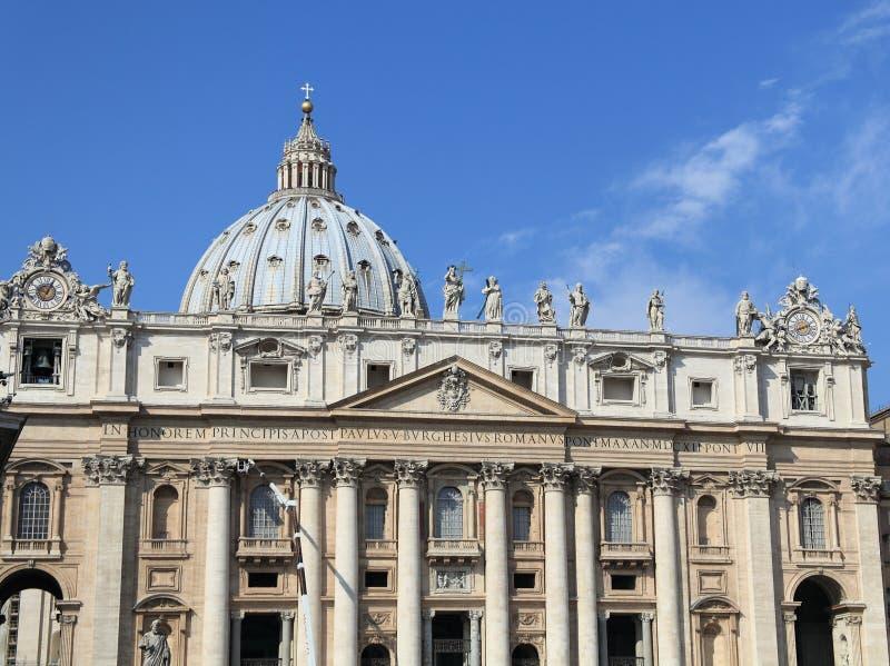 Download Bazyliki Fasadowy Peter S święty Vatican Zdjęcie Stock - Obraz złożonej z fasada, pope: 13329580