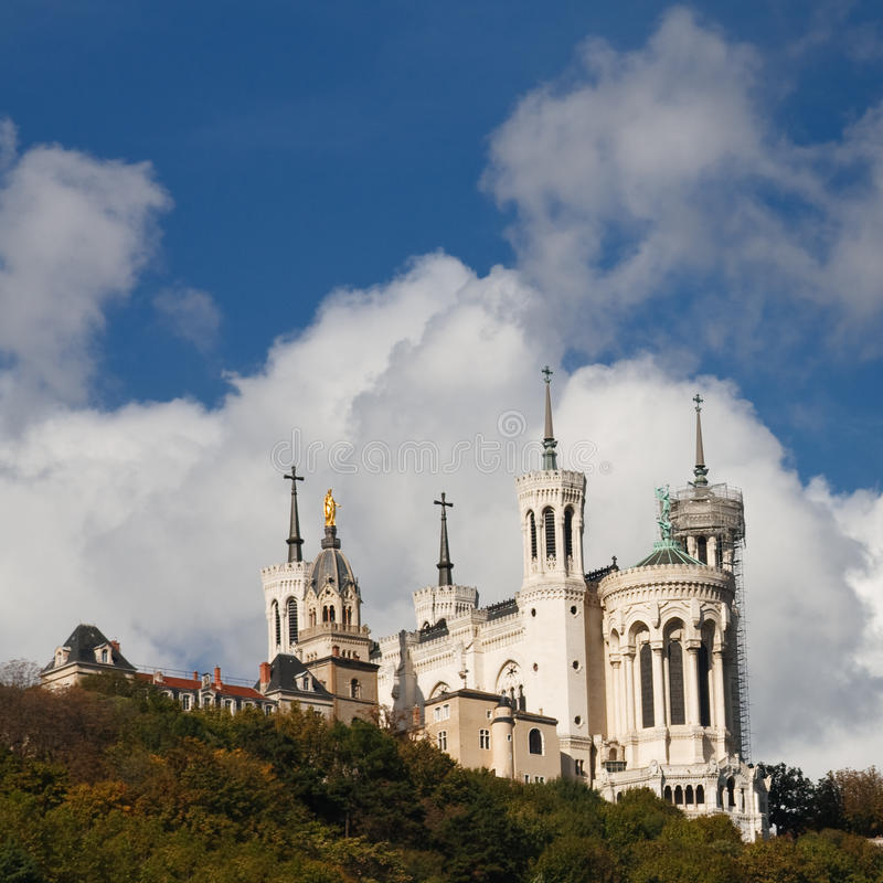 bazyliki Paniusi De Fourviere France Lyon notre obrazy royalty free