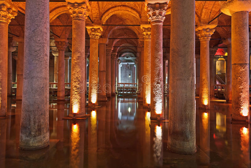 bazyliki spłuczki Istanbul podziemna woda obraz stock