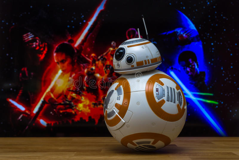 BB-8机器人模型 库存照片