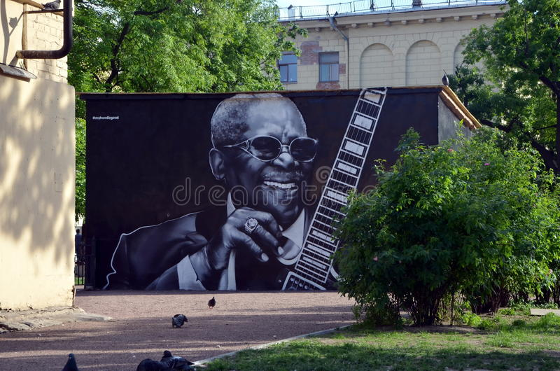 BB King. Graffiti stock photography