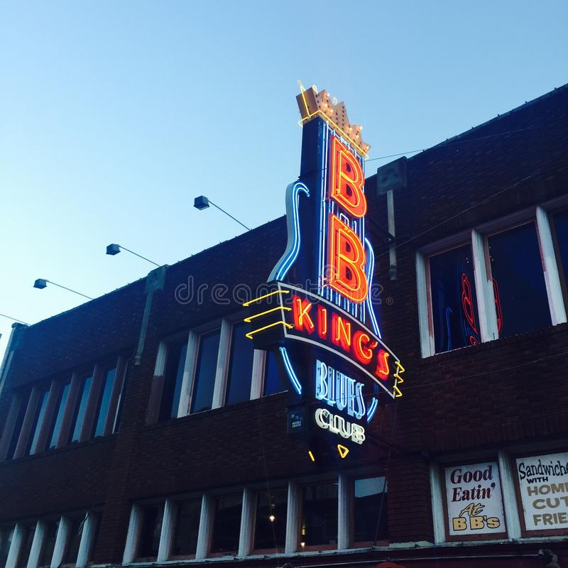 BB Kings Blues Club in Memphis. The BB King's Blues Club on the Beale Street in Memphis, Tennessee stock photography