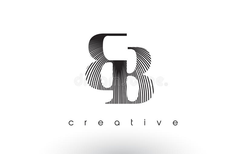 Bb logo design with multiple lines and black and white for Bb design
