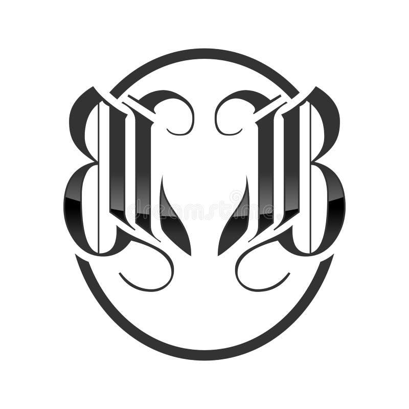BB Parafuje Klasycznego Królewskiego Fox emblemata projekt royalty ilustracja