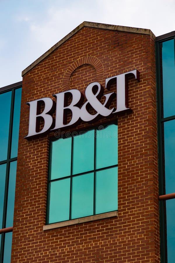 BB&T-bankbyggnad i Lititz PA arkivbilder