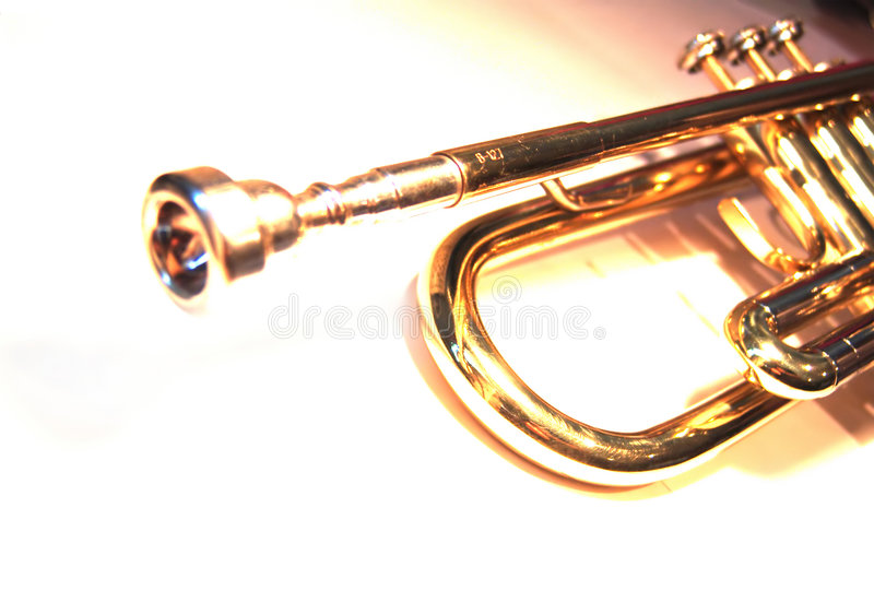 Bb Trumpet stock photo