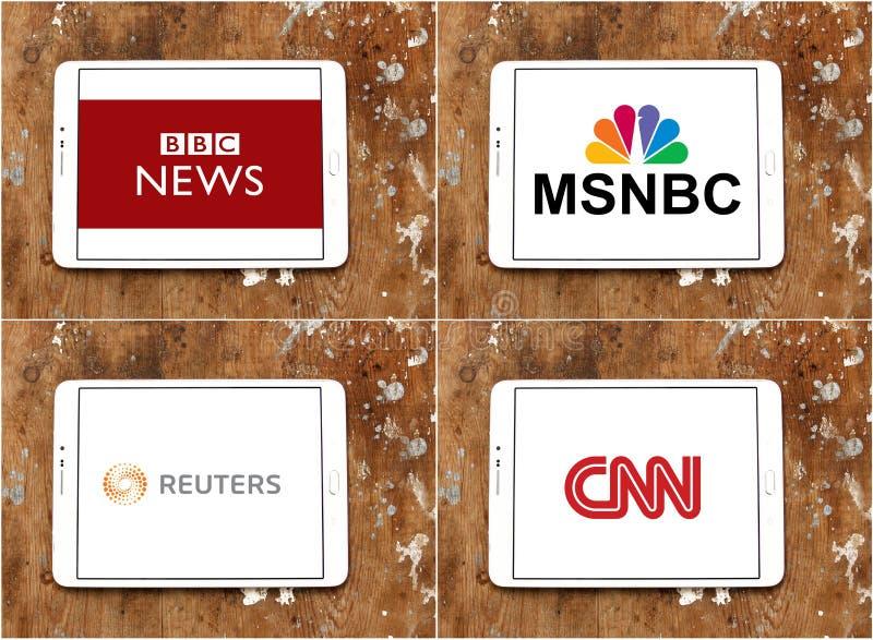 BBC mundial das agências noticiosas, msnbc, reuters e CNN ilustração stock