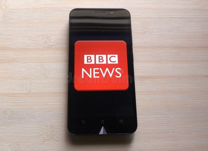 BBC News royaltyfri foto