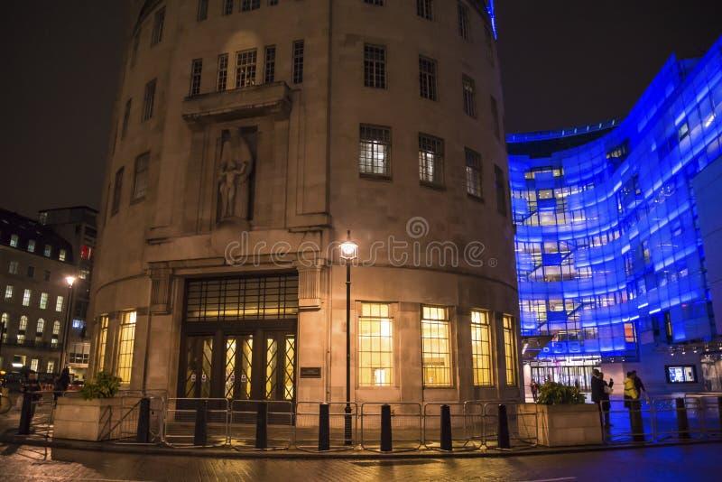 BBC-Sender, Portland-Platz, London, England, Großbritannien lizenzfreie stockfotografie