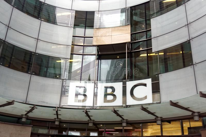 BBC Sign stock images
