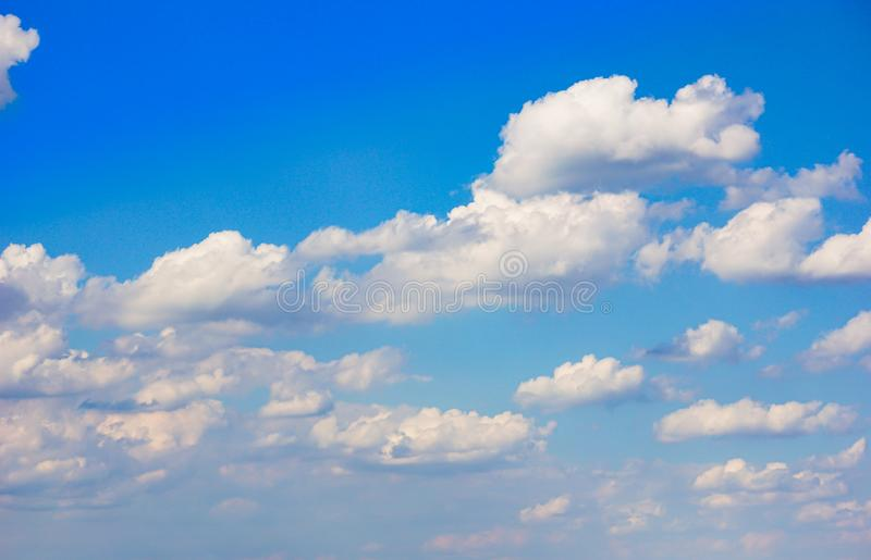 Bbeautiful sky with clouds background. Blurry sky blue or azure sky and cloud on bright daytime of sun. royalty free stock image