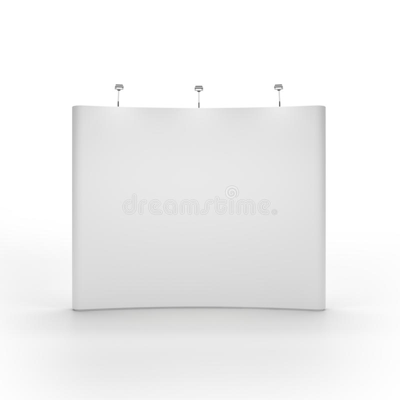 Bblank trade show booth. Front view vector illustration