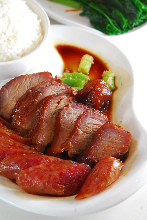 bbq猪肉米 免版税库存照片