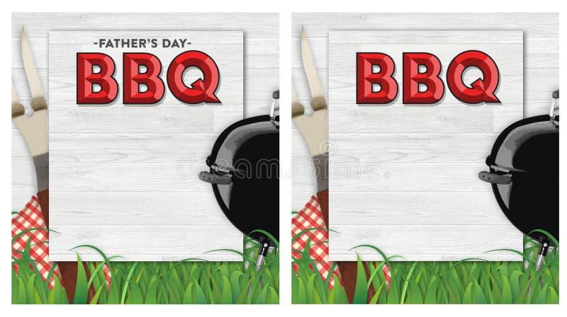 BBQ ημέρας πατέρων πρόσκληση ελεύθερη απεικόνιση δικαιώματος