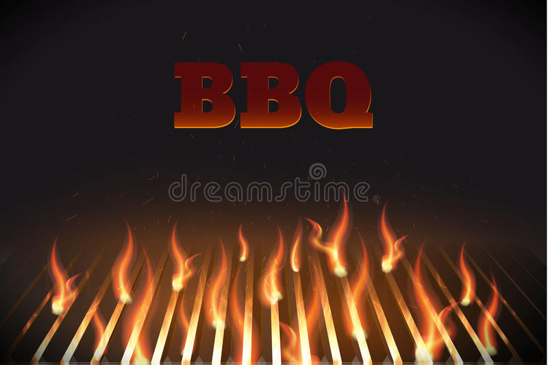 Bbq κάγκελα eps 10 πυρκαγιάς ελεύθερη απεικόνιση δικαιώματος