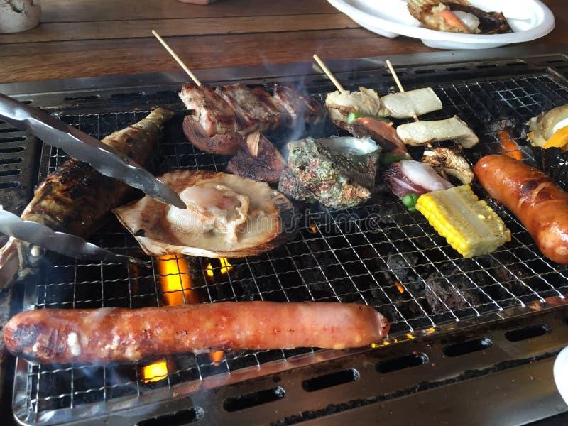 BBQ морепродуктов стоковое фото rf