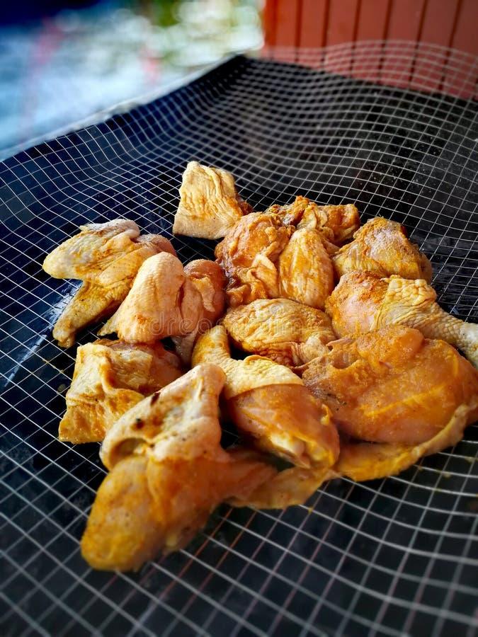 BBQ цыпленка стоковые изображения rf