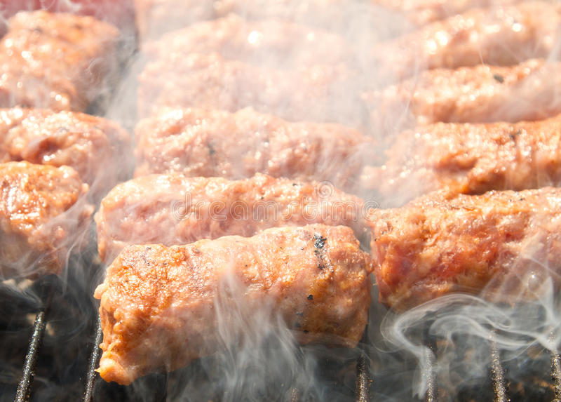 Download BBQ stock photo. Image of smoke, char, meatball, barbeque - 20191112