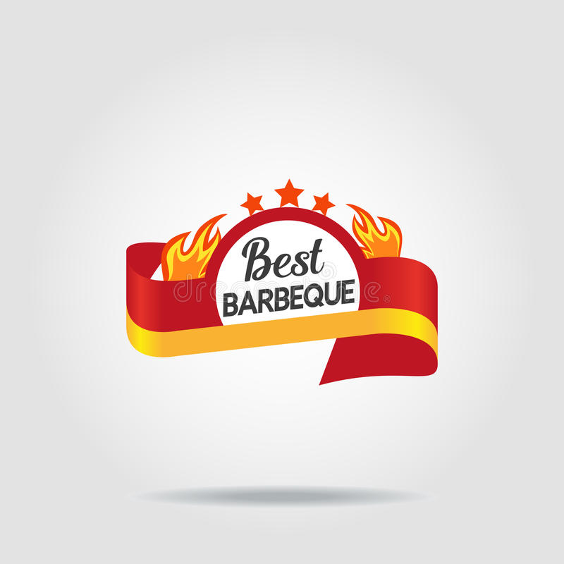 BBQ badge icon isolated royalty free illustration